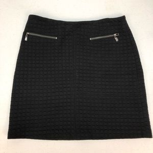 Quilted black skirt Laundry by Shelli Segal sz 6